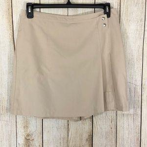 IZOD Tennis Golf Skirt Skort Tan Size 10 Cool FX